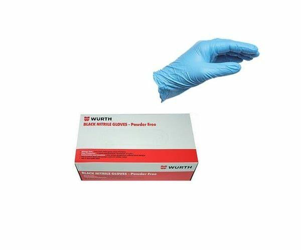 Γάντια νιτριλίου μπλε μιας χρήσης Wurth - 100τεμ.